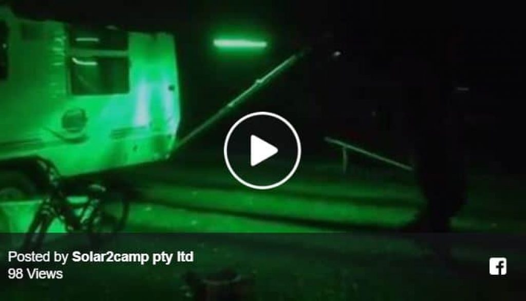 LED light camp site testing-night