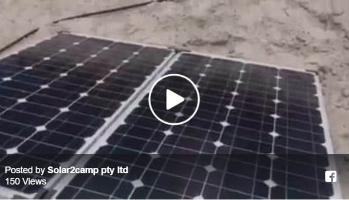 160 watt folding solar kit demonstration