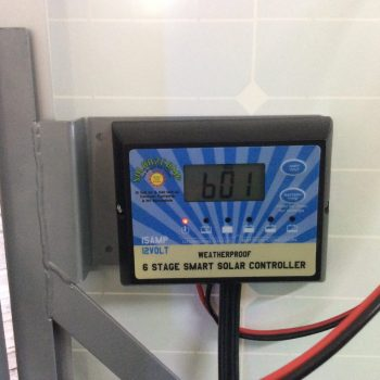 15 amp,6 stage smart solar controller. fully weather proof.