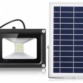 White Solar Flood Light  3.7V 300LM-6V 6W.