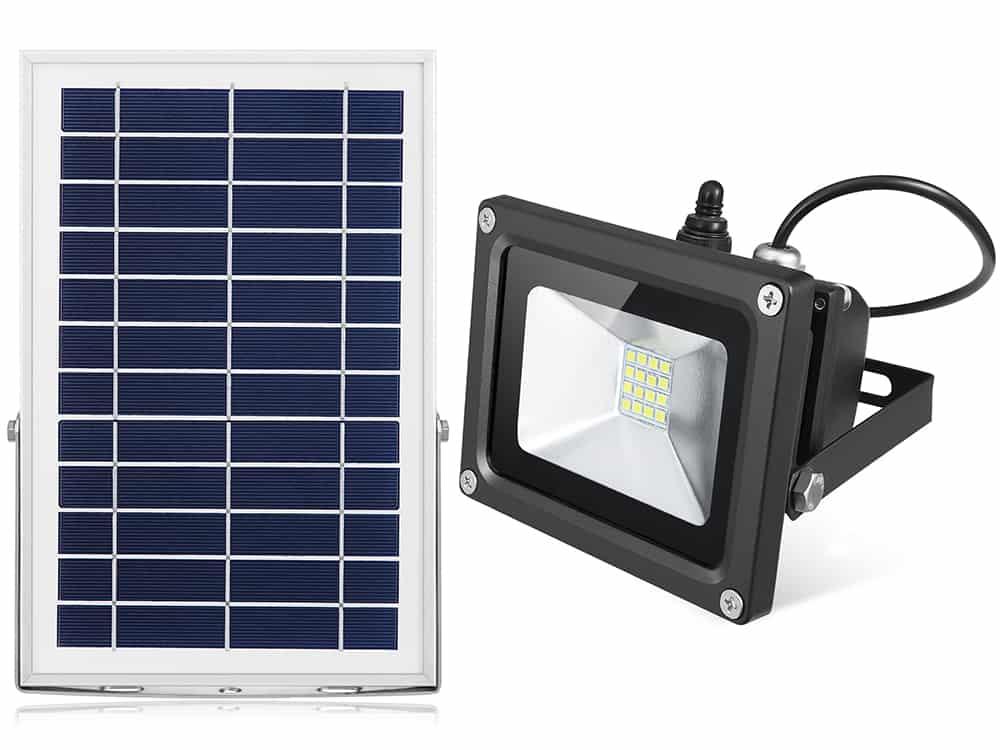 Solar Flood Light White 3 7v 300lm 6v 6w Solar2camp
