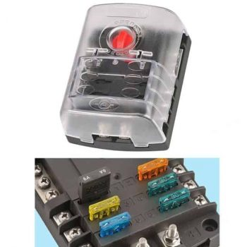 NARVA Fuse Box 6 Way with cover