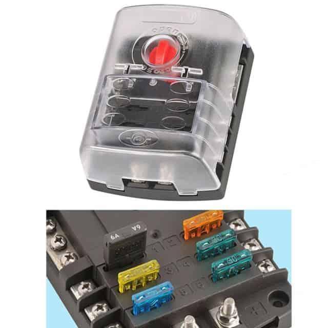 fuse box adapter narva fuse box 6 way with cover solar2camp  narva fuse box 6 way with cover