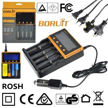 BORUIT C4 Intelli LCD Smart Battery Charger