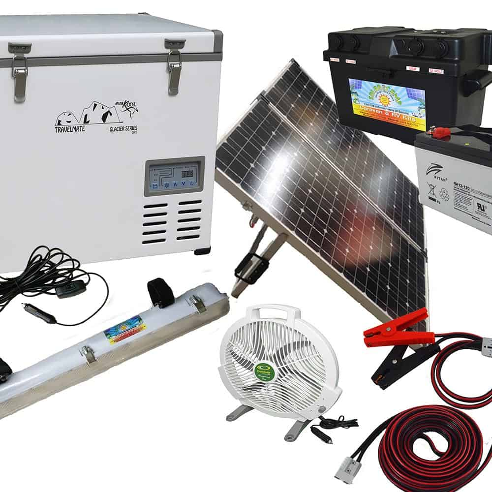 Camping portable solar panels and solar panel kits