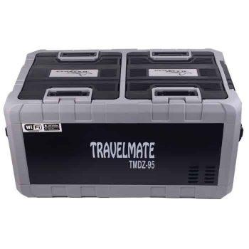 Complete Camping Solar Kit with TMDZ95 Evakool Dual Zone Fridge Freezer.
