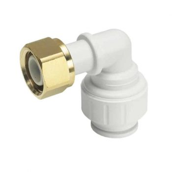 The John Guest Speedfit RV Range has been specifically designed to meet Australian Standards and to be WaterMark compliant. The benefits of this range is its increased maximum working temperature and pressure . JG Speedfit tube fittings are warranted to achieve 80°C at 1000 kPa. Product Description Push-fit plastic fitting for the connection of plastic and copper pipe. Designed, manufactured and assembled in the UK by John Guest Speedfit. Simply push the fitting fully onto the pipe and twist the plastic nut clockwise to lock in place. Should the need arise to demount the connection unlock the nut and push the collet towards the body of the fitting and pull the pipe to release. The fitting ensures an easier working environment in confined places and removes the need for hot works on site. Installation can be reduced by around 40% against traditional fixing methods. Note: With all plastic pipes the relevant manufacturer's pipe insert is required.