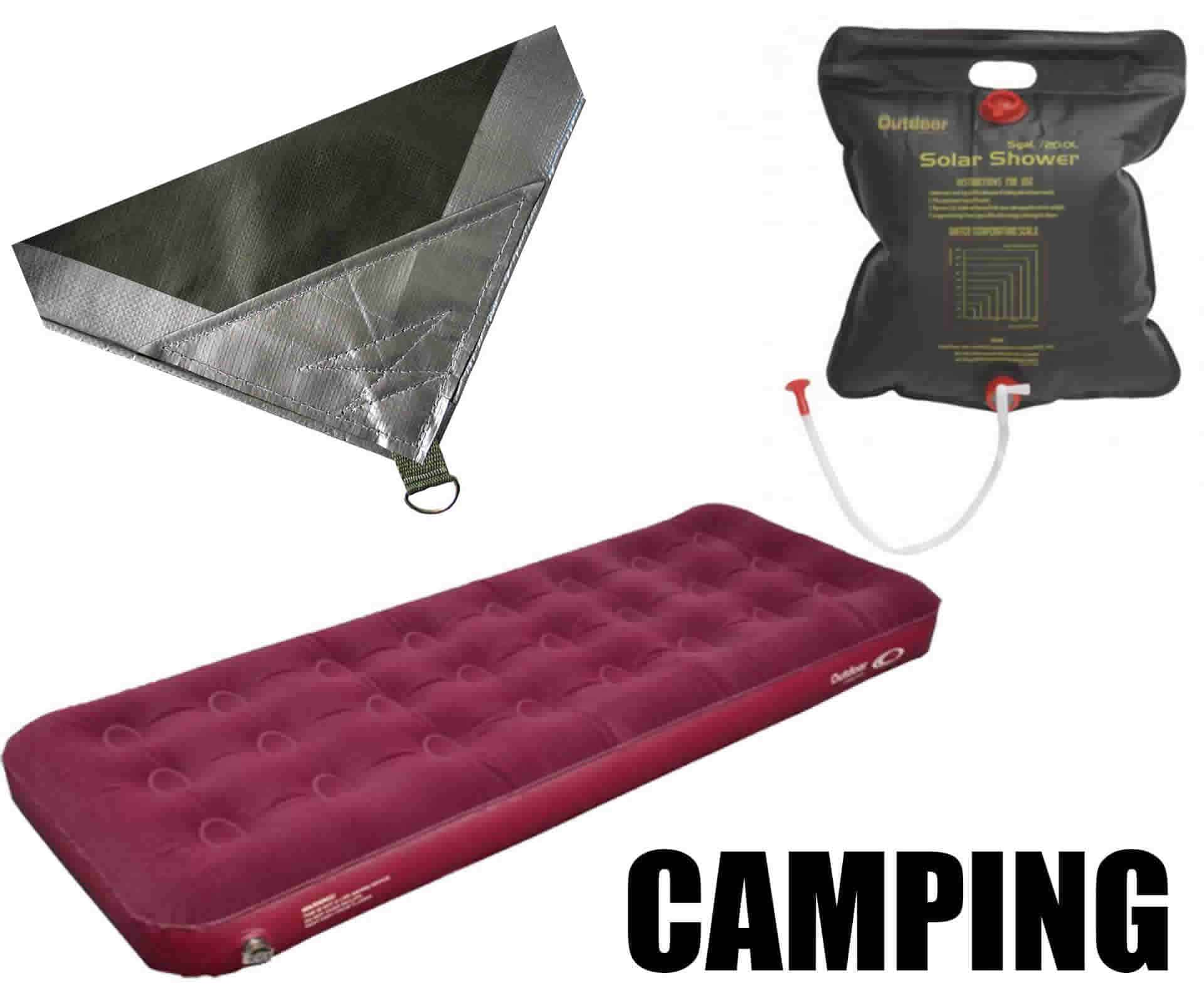 Online camping gear and portable solar panels