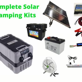 Complete Camping Solar Kit with TMDZ50 Evakool Dual Zone Fridge Freezer.