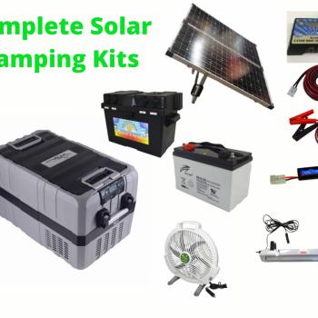 Complete Camping Solar Kit with TMDZ60 Evakool Dual Zone Fridge Freezer.