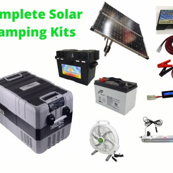 Complete Camping Solar Kit with TMDZ70 Evakool Dual Zone Fridge Freezer.