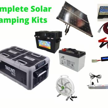 Complete Camping Solar Kit with TMDZ80 Evakool Dual Zone Fridge Freezer.